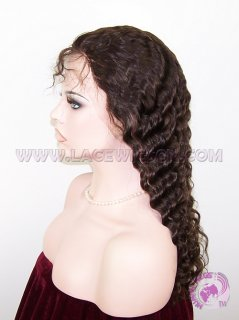 Deep Wave #2 Indian Remy Hair Stock Glueless Full Lace Wigs