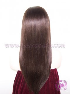 Light Yaki Straight #2 Brazilian Virgin Hair Full Lace Wigs