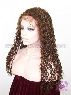 Curly #4 Highlight #27,#30 Indian Remy Hair Lace Front Wig
