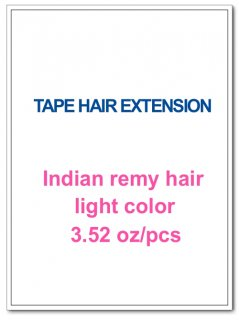 Indian remy hair 3.52oz/pcs light color(#8-#613) TAPE HAIR EXTENSION