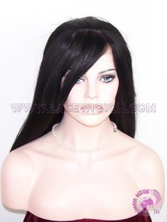 Yaki Straight With Bangs Synthetic #1 Lace Front Wigs