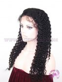 22 Inches Colour #1 Deep Wave Indian Remy Hair Silk Top Lace Wigs