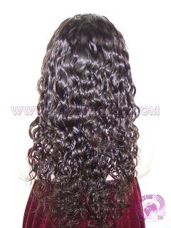 Curly natural color 20 inches Indian remy hair glueless full lace wigs