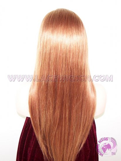 Straight Mix Color Brazilian Virgin Hair Full Lace Wigs - Click Image to Close