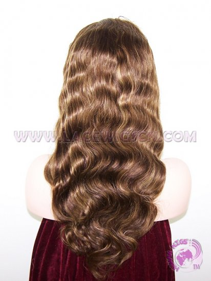 In Stock Body Wave #4 Highlight #27 Indian Remy Hair Silk Top Lace Wigs - Click Image to Close