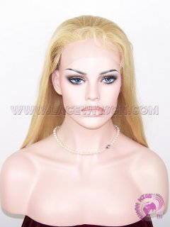 Custom Silky Straight #22 highlight #613 Peruvian Virgin Hair Full Lace Wigs