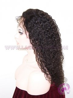 Jerry Curl Natural Color Malaysian Virgin Hair Silk Top Lace Wigs