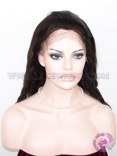 Natural Straight Natural Color Indian Remy Hair Full Lace Wigs