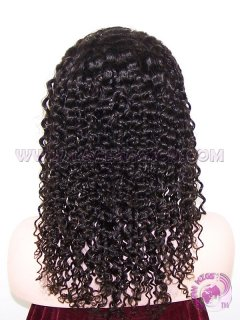 In Stock Kinky Curl #1b Indian Remy Hair Silk Top Lace Wigs