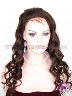 Curly Natural Color Malaysian Virgin Hair Full Lace Wigs