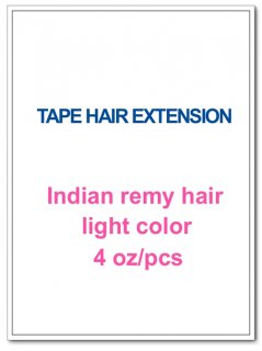 Indian remy hair 4oz/pcs light color(#8-#613) TAPE HAIR EXTENSION