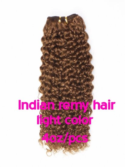 Indian remy hair 4oz/pcs light color(#8-#613) machine made hair weave - Click Image to Close