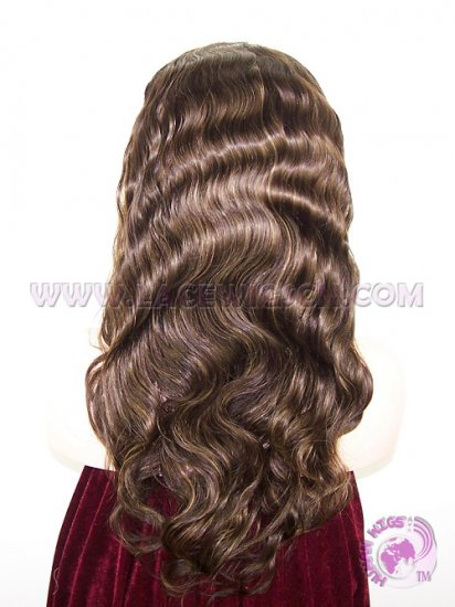 Body Wave #3 Highlight #8 Indian Remy Hair Silk Top Lace Wigs - Click Image to Close