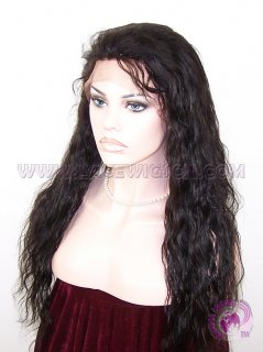 Natural Wave #1b Indian Remy Hair Full Lace Wigs