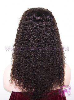 Curly #2 Indian Remy Hair Silk Top Lace Wigs