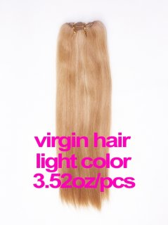 virgin hair 3.52oz/pcs light color(#8-#613) machine made hair weave