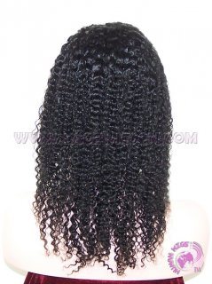 Kinky Curl #1 Indian Remy Hair Lace Front Wig