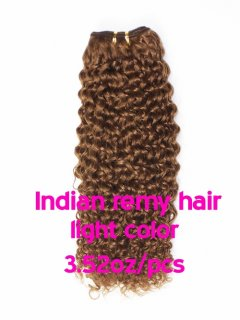Indian remy hair 3.52oz/pcs light color(#8-#613) Clips in hair extension