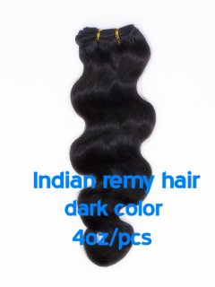 Indian remy hair 4oz/pcs dark color(#1-#6) CLIPS IN HAIR EXTENSION