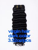 virgin hair 3.52oz/pcs dark color(#1-#6) CLIPS IN HAIR EXTENSION