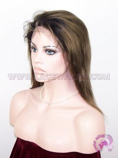 Straight #1b T #9 (ombre color) two tone color Brazilian Virgin Hair Full Lace Wigs