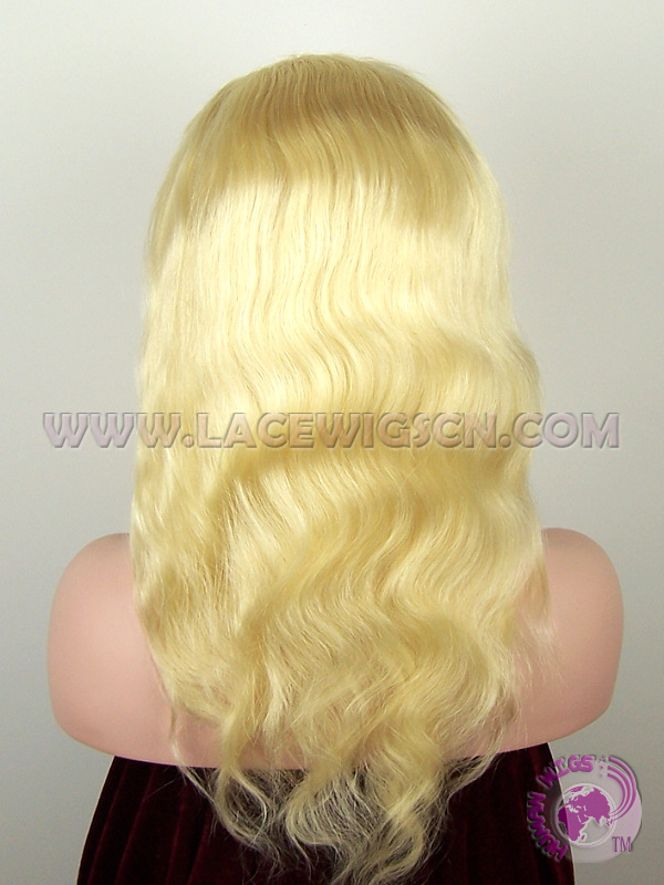 Body Wave #613 Brazilian Virgin Hair Full Lace Wigs - Click Image to Close