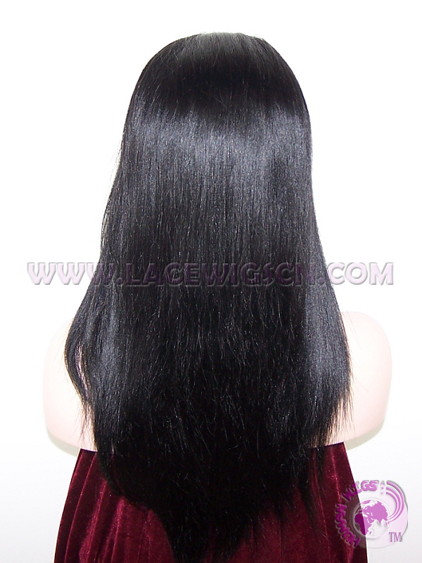 Stock Chinese Virgin Hair #1 Yaki Straight Silk Top Lace Wigs,Silk Bae Wigs - Click Image to Close