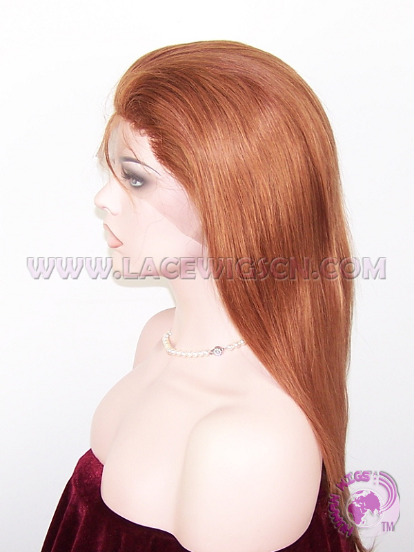 Straight #30 Indian Remy Hiar Full Lace Wigs - Click Image to Close