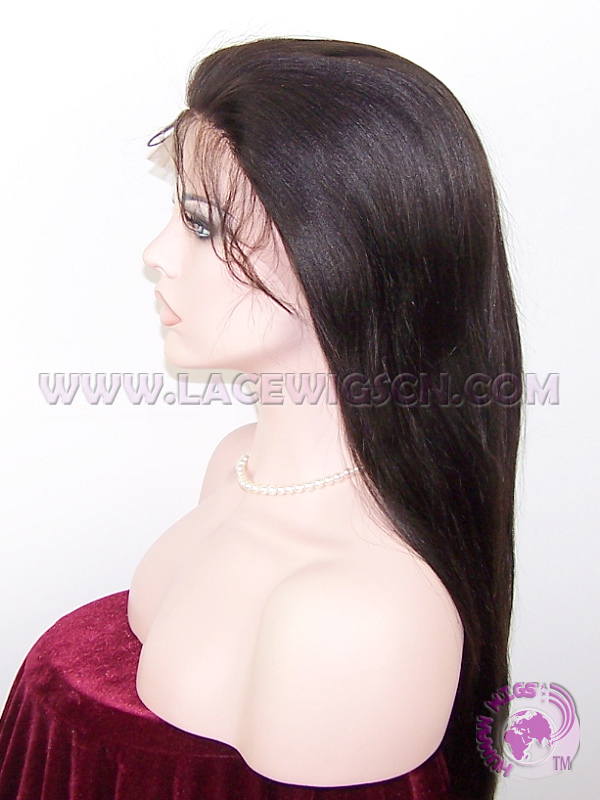 Light Yaki Straight #2 Indian Remy Hair Full Lace Wigs - Click Image to Close