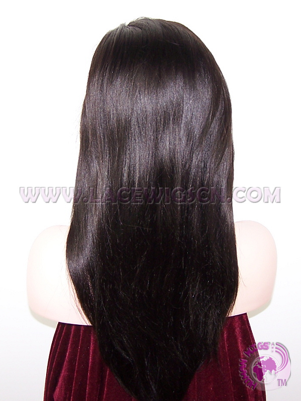 9.Stock Glueless Indian Remy Hair Silk Base Lace Wigs - Click Image to Close
