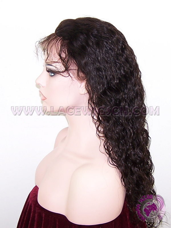 Loose Curl #2 Indian Remy Hair Lace Front Wig - Click Image to Close