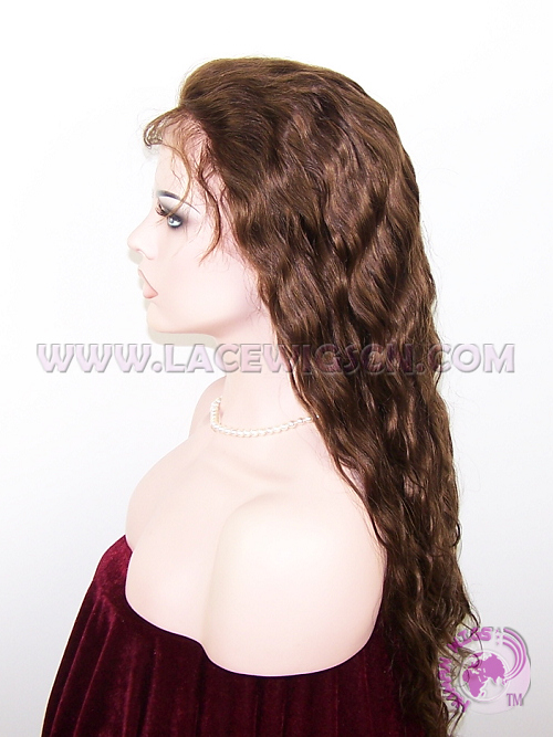 Virgin Wave #4 Highlight #30 Indian Remy Hair Full Lace Wigs - Click Image to Close