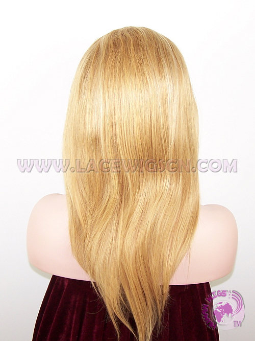 Silky Straight #27 Highlight #613 Indian Remy Hair Full Lace Wigs - Click Image to Close
