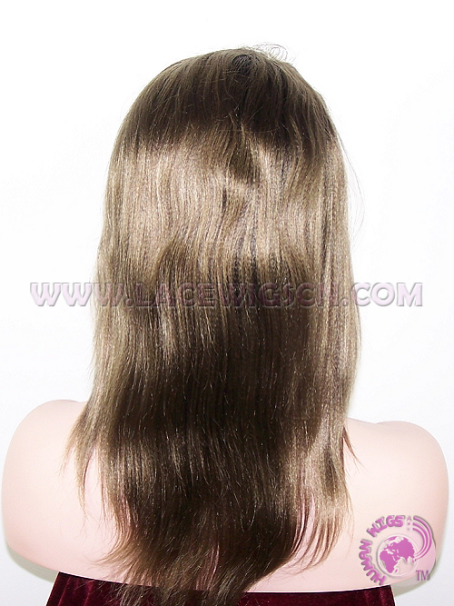 Straight #1b T #9 (ombre color) two tone color Brazilian Virgin Hair Full Lace Wigs - Click Image to Close