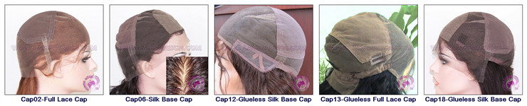 stock full lace cap